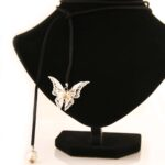 Велучен Чокър Silver Butterfly