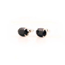 малки нежни черни Обеци Charlotte с кристали ръчна изработка