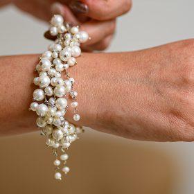 Гривна с естествени перли Pearl Waterfall