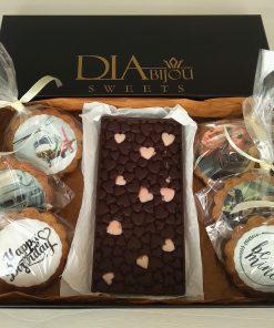 Дизайнерски шоколад със сърца за Свети Валентин